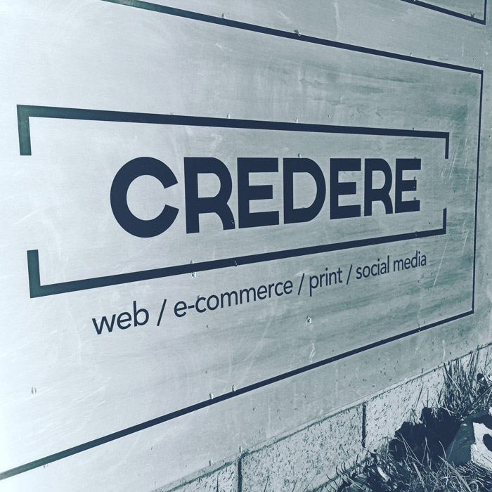 Credere Media business signage