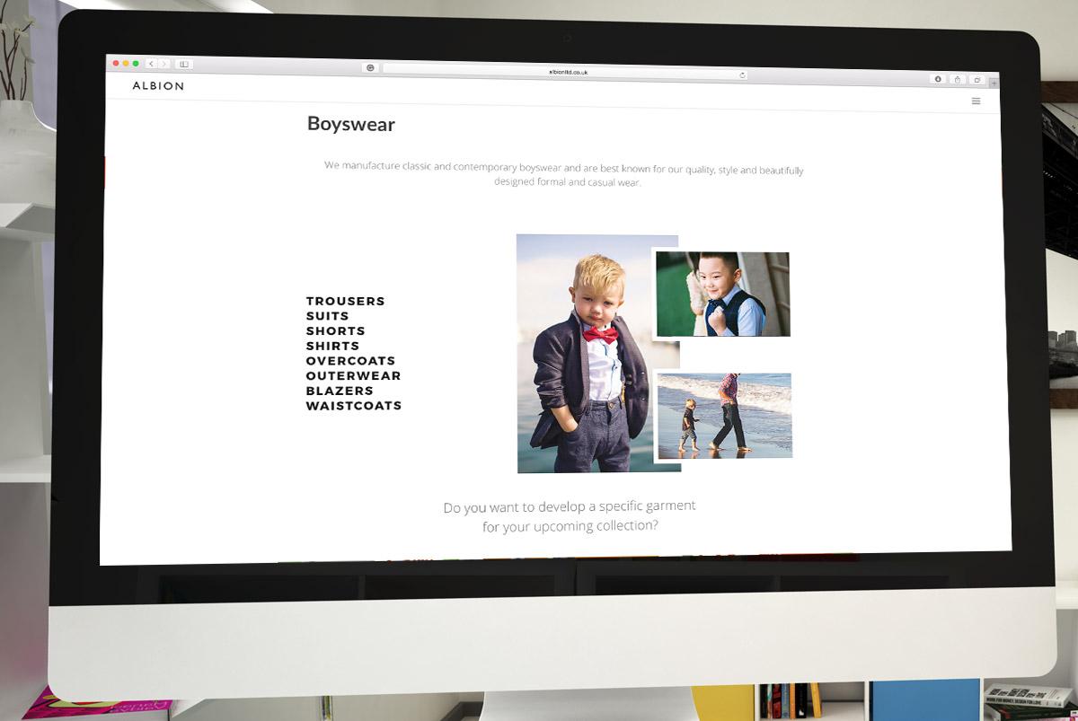 Albion Ltd website design