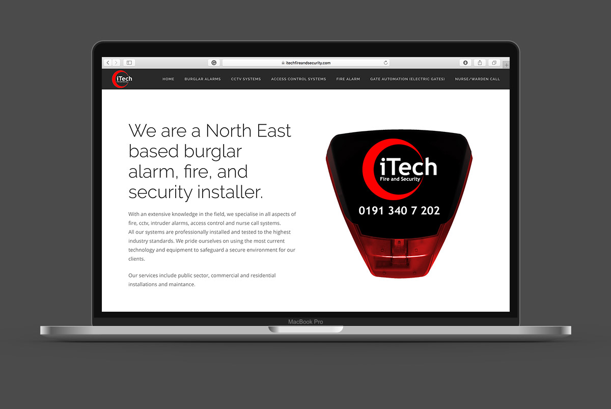 iTech Fire and Security website