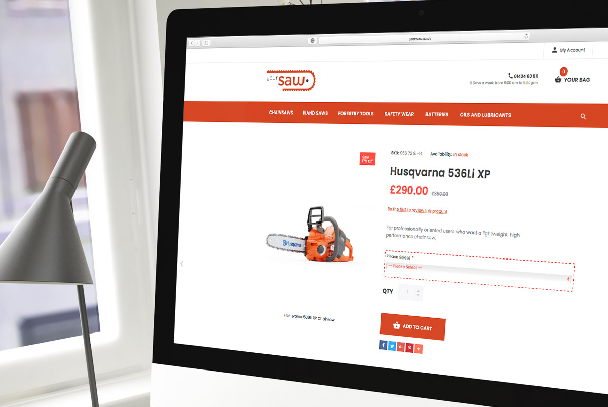 Your Saw Website design
