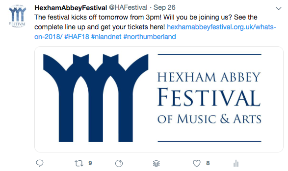 Hexham Music Society Tweets